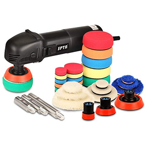 SPTA Mini Polisher, Buffer Polisher 25mm/50mm/80mm 780W, with 6 Variable Speeds, 27pcs Detail...