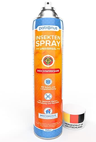 Patronus Insektenspray Universal mit Sofort- und Langzeitschutz 750ml - Power Ungeziefer-Spray zur Bekämpfung von zahlreichen Insekten - hochwirksam & hergestellt in Deutschland