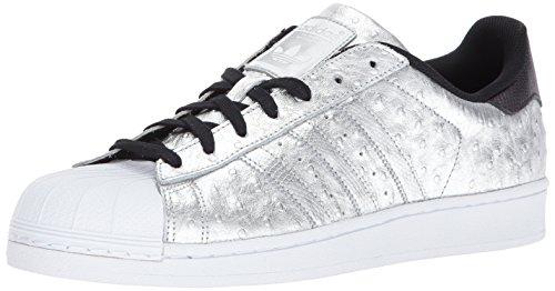 adidas Originals Superstar, Scarpe da Ginnastica Uomo, Argento Metallizzato e Bianco Metallizzato, 41 1/3 EU