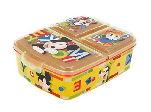Theonoi Kinder Brotdose / Lunchbox / Sandwichbox wählbar: Frozen PJ Masks Spiderman Avengers - Mickey – Paw aus Kunststoff BPA frei - tolles Geschenk für Kinder (Mickey Mouse)