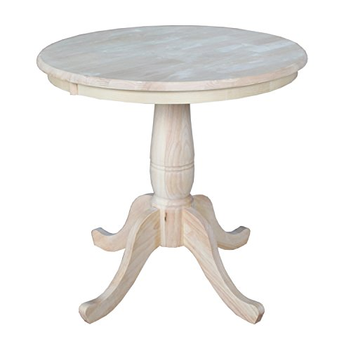 International Concepts Round Top Pedestal Table, 30-Inch