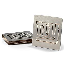 NFL New York Giants Boaster Stainless Steel Coaster Set of 4