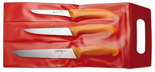 Giesser Lot de 3 couteaux de boucher Jaune