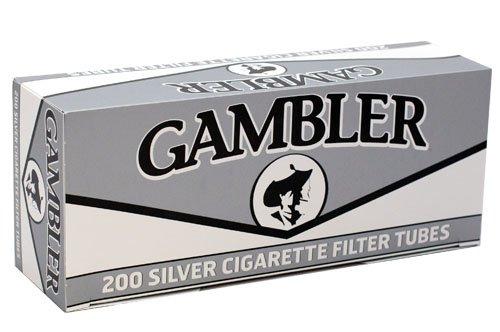 Gambler Silver King Size RYO Cigarette Tubes 200ct Box (5 Boxes)