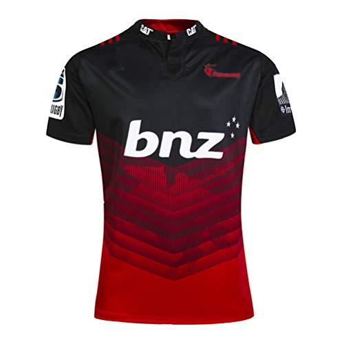 KIND CY Rugby Jersey 2017 Jersey T-Shirt Camiseta de Rugby Ropa Deportiva de Fútbol Manga Corta Copa del Mundo Camisas de Hombre Ropa de Atletas,C-Cruzada,XL