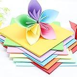 DZAY 300 hojas de papel para origami, de doble cara, cuadradas para manualidades, para Navidad o origami.