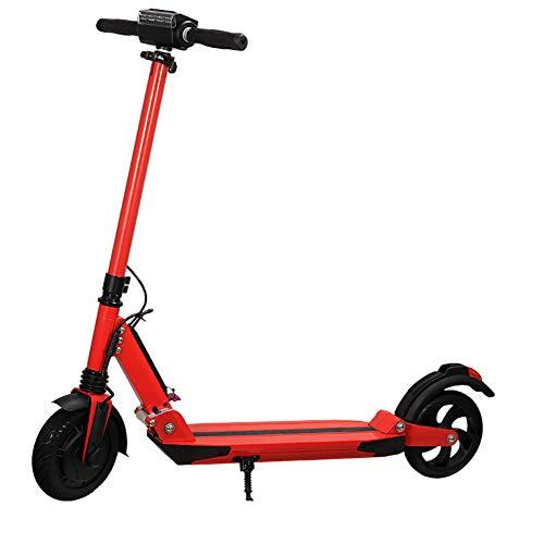 HECHEN Scooter Elettrico per Teenager e Adulto, Elettrico Pieghevole con Display LCD Ultra Leggero velocità Massima 30 km/h Altezza Antiscivolo Regolabile,Rosso