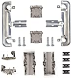 W10712394 Upgraded Dishwasher Metal Upper Rack Adjuster Kit Compatible with Whirlpool Ken-more Dishwasher Replaces W10350376 AP5956100 - Free 4 Pack W10195416 Dishwasher Lower Rack Wheels