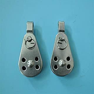 2Pcs For Marine Ss316 Pulley Blocks Rope Runner Kayak Boat Accessories Canoe Anchor Trolley Kit For 2Mm To 8Mm Rope