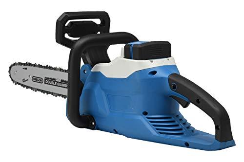 Hyundai HY-CS3501-58LI Elektro-Kettensäge (Akku und Ladegerät nicht im Lieferumfang enthalten), blau/schwarz