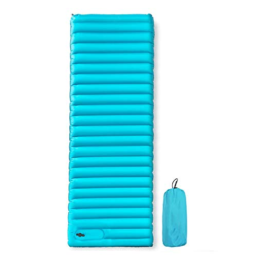 IOIOA Inflatable Mattress,195 * 70 * 9CM Outdoor Camping Sleeping Mat Ultralight Air Bed Folding Single Moisture-Proof Pad for Backpacking, Car Traveling And Hiking