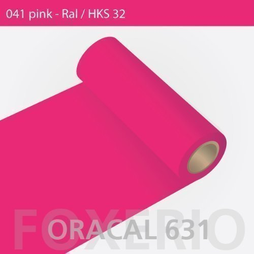 Orafol - Oracal 631 - 31cm Rolle - 5m (Laufmeter) - Pink / matt, A22oracal - 631 - 5m - 31cm - 11 - kl - Autofolie / Möbelfolie /...