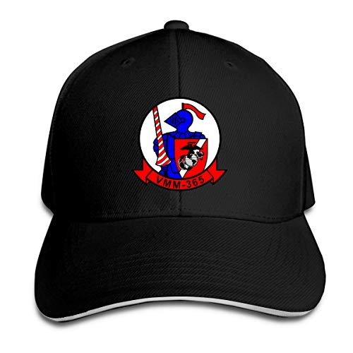 VMM-365 Blue Knights Insignia Unisex Sandwich Cap Baseball Cap