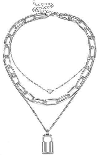 WYDSFWL Collar Concha Collar de Acero Inoxidable para Mujer Collares de Color Dorado Colgante joyería Femme Collar Regalo
