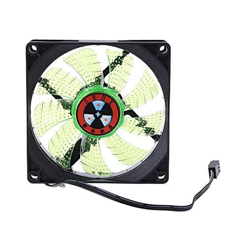 Meipai Luz LED de 3 pines 90 mm para PC de sobremesa de ordenador de sobremesa enfriador ventilador de bajo ruido 9025