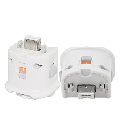 YiYunTE Remote Motion Plus Adapter für Wii Fernbedienung Externer Zubehör Motion Plus Sensor für Wii U Wii Controller (White)