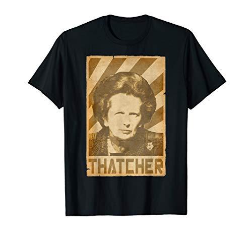 Margaret Thatcher Torn Propaganda Poster T-Shirt