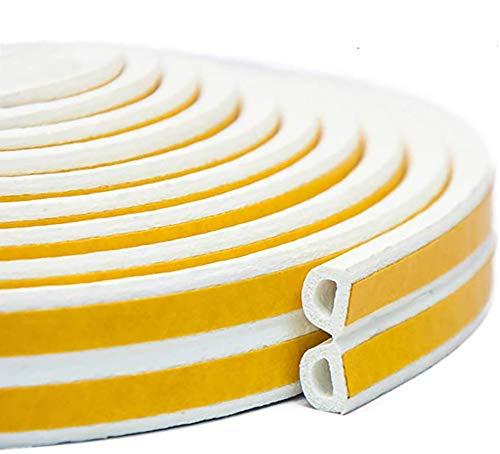 Kit de burletes para puertas insonorizadas , 10M (33 pies) Puertas y ventanas para burletes largos Insonorización Anticolisión Tira para clima autoadhesiva Tira de goma para...