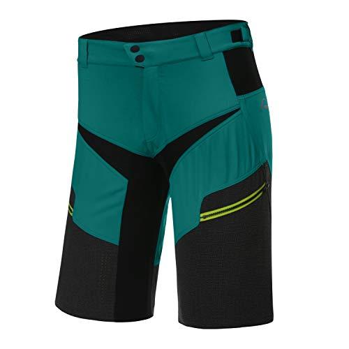Protective P-Life is Wild 2021 - Pantalones cortos de ciclismo para hombre, color negro, verde menta, extra-large