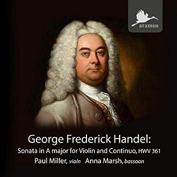 George Frederick Handel: Sonata for Violin and Continuo in A Major, HWV 361