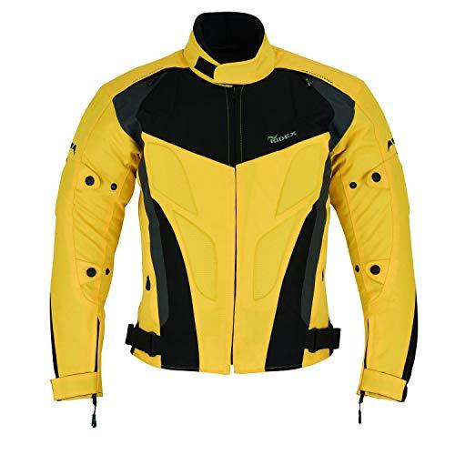 CJ228 Ridex Motorradjacke für Herren Gr. L, gelb