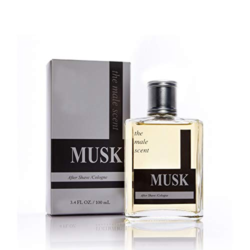MUSK Men's Cologne by Tru Western, Masculine After Shave Scent - Citrus, Mandarin, Lemon, Grapefruit, Lily of the Valley, Wood and Musk - 3.4 oz 100 mL
