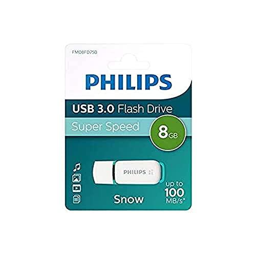 Philips FM08FD75B Memoria USB 3.0 Portatile, 8 GB, Turchese/Bianco