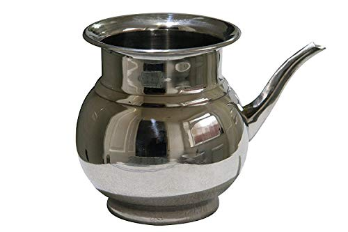 Jarra para inodoro de acero inoxidable Lota Wash Bodna, botella Wudu Wudhu, limpieza de baño