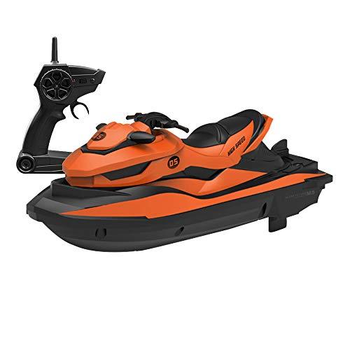 GoolRC RC Motorboot RC Boot Hochgeschwindigkeits-Fernbedienungsboot für Pools Lakes 2,4 GHz Starten Sie automatisch das Hoch- / Niedriggeschwindigkeits-Motorbootspielzeug für Kinder und Erwachsene