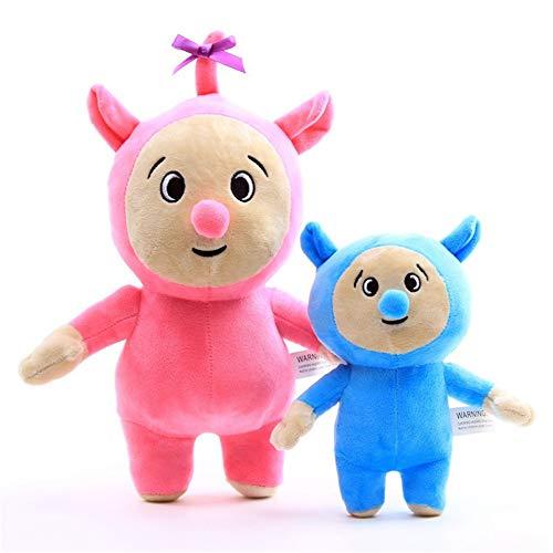 Moovi 2 PCS / Set Baby TV Billy und Bam Bam Plüsch 11,8 '' (30 cm) und 7,8 '' (20 cm) Figuren Stofftier für Kinder