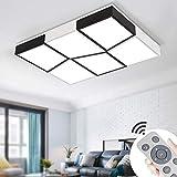 72W Plafon Led Techo Regulable Moderna Rectangular Lampara para Cocina Sala de estar Comedor Balcón Pasillo [Clase de eficiencia energética A++]