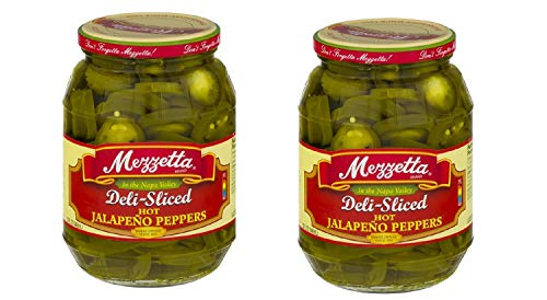 Mezzetta Hot Jalapeno Peppers Deli Sliced 32 fl Oz PK of 2 Kosher Spicy