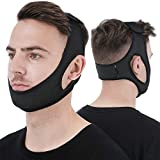 Anti Snore Chin Strap [Upgraded 2020], Vosaro Snoring Solution Anti Snoring Devices Effective Stop Snoring Chin Strap, Adjustable and Breathable Stop Snoring Sleep Aid for Men Women, Black