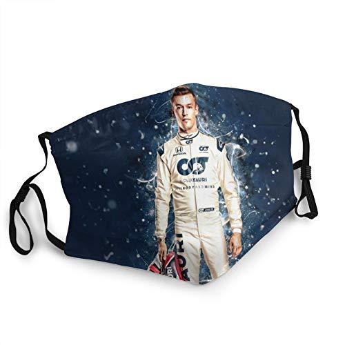Protection Outdoor Formula 1 Racing Face Mask Daniil Kvyat Reusable Breathable Anti Dust Mouth Mask Black