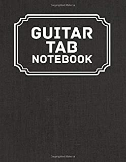 Guitar Tab Notebook: Blank Note Tablature Manuscript Journal - 5 Chord Boxes and 6-Line Staves   Perfect for Guitar Player...