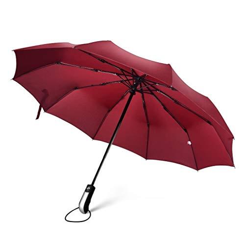 ZXC Home Draagbare Inklapbare Waterdichte Zonnescherm Regenachtig Zonnig Regenachtige Dag Dual-use Automatische Schakelaar Zonneparaplu