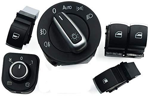 Interruptor de control de puerta de espejo de ventana/ajuste para VW / ajuste para Passat/ajuste para Golf/ajuste para GTI/ajuste para conejo (juego)