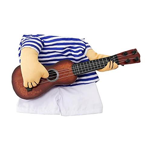 Hainice Disfraz de Guitarra para Mascotas Halloween Halloween Traje de Navidad Guitarra Guitarra Traje de Cosplay para Cachorro Gato l