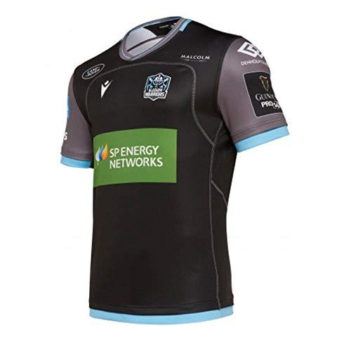 Macron Glasgow Warriors 2019/2020 Home Rugby Shirt, Schwarz , Größe S
