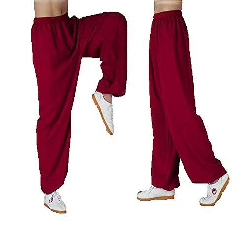 Mujeres Y Hombres Pantalones De Tai Chi Cáñamo De Bambú Ropa De Wu