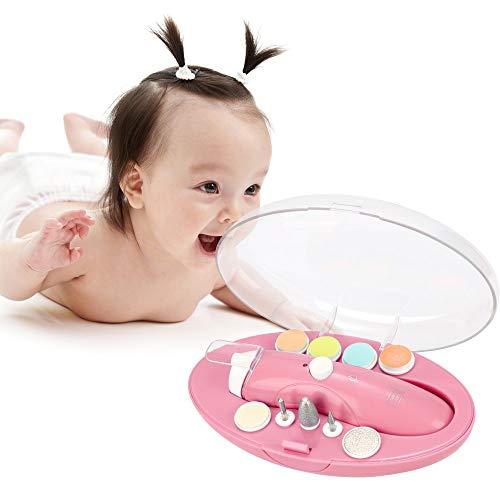 HALOVIE Elektrische Baby Nagelfeile, USB wiederaufladbare Nagelfeile 9 in 1 Nagelfeile mit LED- Licht für Babys und Erwachsene
