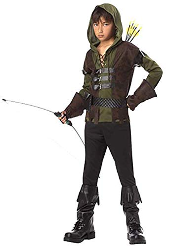 Kids Robin Hood Costume Medium (8-10) Green