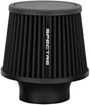 Spectre Performance 9131 Universal Clamp-On Air Filter: Round Tapered; 3 in (76 mm) Flange ID; 6.5 in (165 mm) Height; 6 in (152 mm) Base; 4.75 in (121 mm) Top