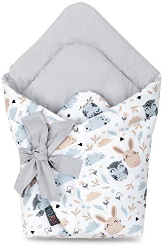 Babydecke Baby Swaddle Wickeltuch Baby Pucksack Baby Einschlagdecke Baby Decke Schlafsack Neugeborene Baby Wickeldecke Warm Weich Swaddle Blanket Für Jungen und Mädchen 100% Baumwolle Decke (TIERE)