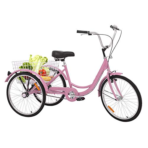 cute pink color adult tricycle for sale