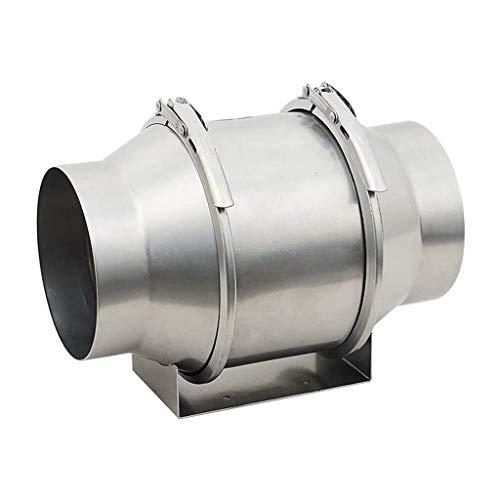 Lcxligang Crece la tienda en línea Extintor Extractor en línea del conducto del ventilador de 150 mm de metal axial Ventilación Extractor de aire de volumen 590 m³ / h El ventilador está hecho de acer