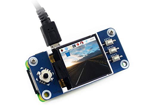 Waveshare Raspberry Pi 128x128 Pixels 1.44inch LCD Display Hat with Embedded Controller,Communicating Via SPI Interface