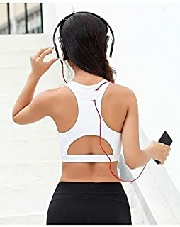 OneChange After Yoga Bra Tops Bags Jogging Sports Bra Thick Hollow Blazer Female Fitness Fitness Underwear Bra (Color: Bla...