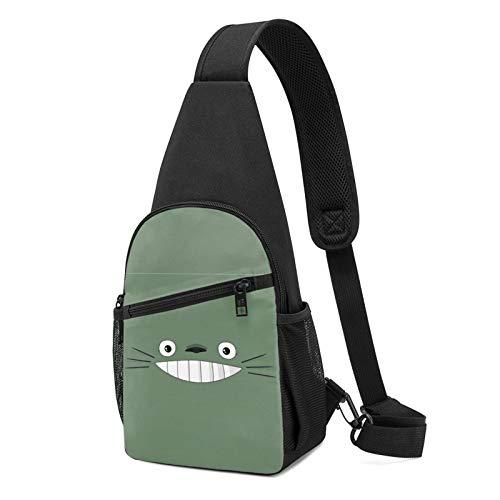 Anime My Neighbor Totoro Chest Bag Men's Women's Sling Bag Sport Hiking Cycling Sling Backpack Multi-Pocket Shoulder Bag Daypack