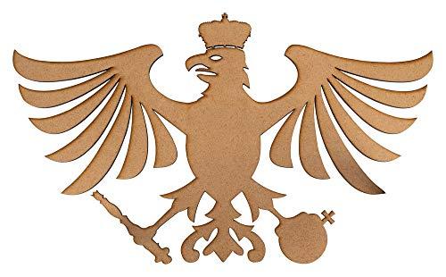 Deitert Schützenvogel Fritz aus Holz, Schützenadler für Vogelschiessen mit Luftgewehr, Schützenfest Natur